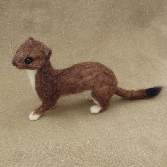 Items similar to Needle felted weasel or stoat, made to ... | 570 x 570 jpeg 59kB
