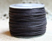Cotton Cord Brown Waxed 0.5mm 25-Meter Spool - Many Colors