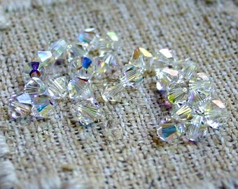 144pcs Swarovski Bicone Crystal Beads Crystal AB  Faceted Austrian Crystals 3mm Xilion Model 5328