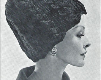 Vintage Flair 1950's Hand Knit Hat