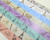 Love in Paris -  Origami Lucky Star Folding Paper - pack of 160 strips