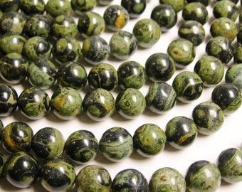 Kambaba Jasper - 12 mm round beads -  full strand - 33 pcs - RFG1028