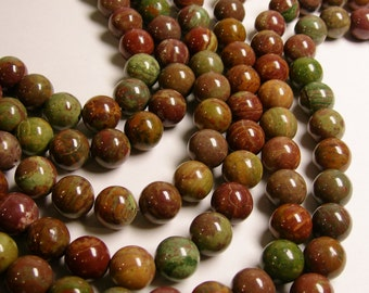 Rainbow  Jasper - 14 mm round beads -  full strand - 29 pcs - NRG158