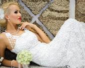 SALE! Half price, was USD999. Exclusive crochet wedding/prom dress-Lady