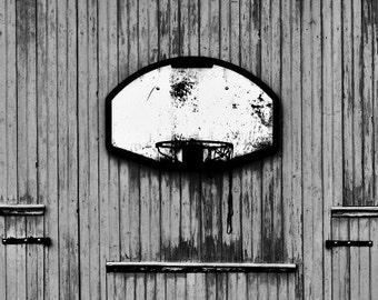 Old Urban Basketball Net 5x7 Inch Photographic Print