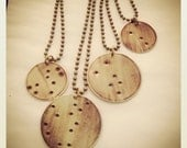 Constellation Necklaces- Stars handstamped