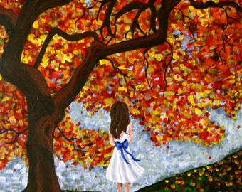"Giclee Print 5"" by 7"" - Autumn Leaves"