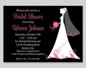 Bridal Shower Invitations Bridal Shower Invites Wedding Dress Printable