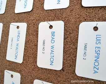Personalized Modern Custom Printed Escort / Seating Card Tags