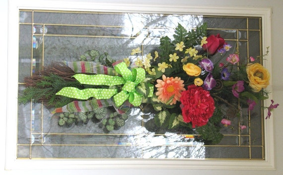 Spring Wreath Floral Bouquet Vertical Swag Tulips Summer