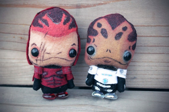 Mass Effect Mini Krogan Dolls