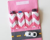 Girly Toy Car Wallet with Road - Includes 4 Cars