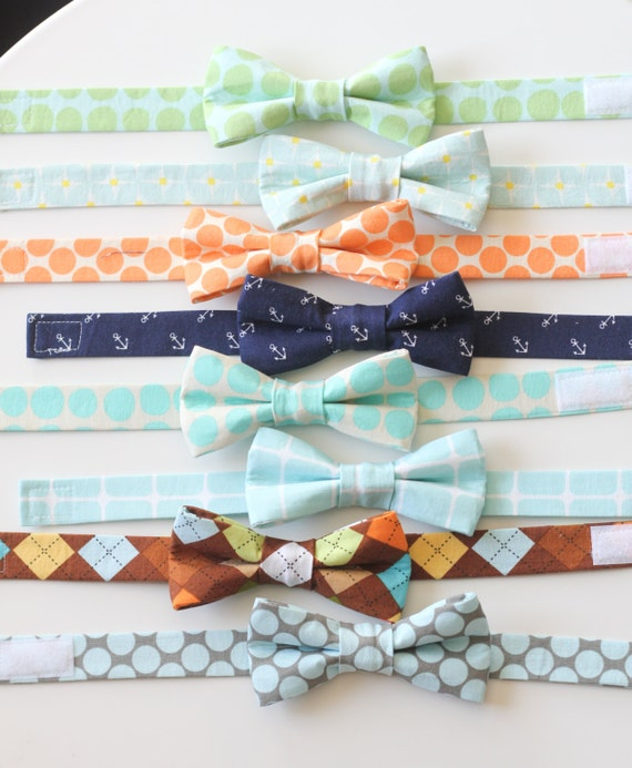 Items similar to little boy fabric bow tie choose your for Little boy fabric