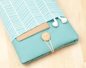 kindle case / Nexus 7 case / kindle voyage case / kindle cover / kindle fire HD 6 sleeve / kobo glo case - sea lines with pockets --
