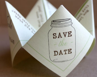 Save the Date Cootie Catcher (PDF - PRINTABLE)