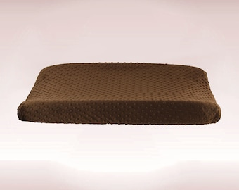 Brown Minky Changing Pad Cover