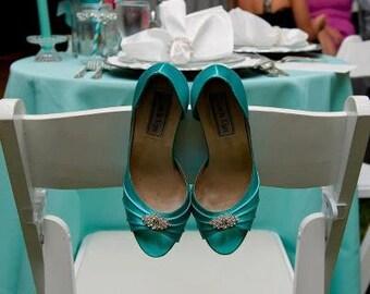 Blue Wedding Shoes - Choose From Over 200 Colors - Swarovski Crystal Shoes- Aqua Blue Wedding Theme - Parisxox by Arbie Goodfellow Shoes