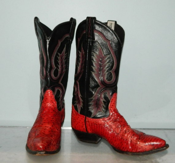 vintage cowboy boots womens size 10 10.5 mens by thevintagevoice