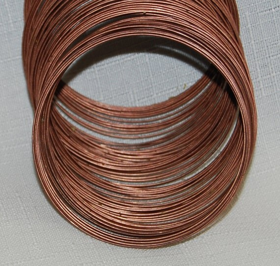 SALE USA 1mm thick 2.25 inch wide Bracelet Antique Copper Plated Memory Beading Wire Coil 132 loops memory bracelet