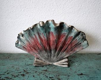 Vintage Hedi Schoop Seashell Vase