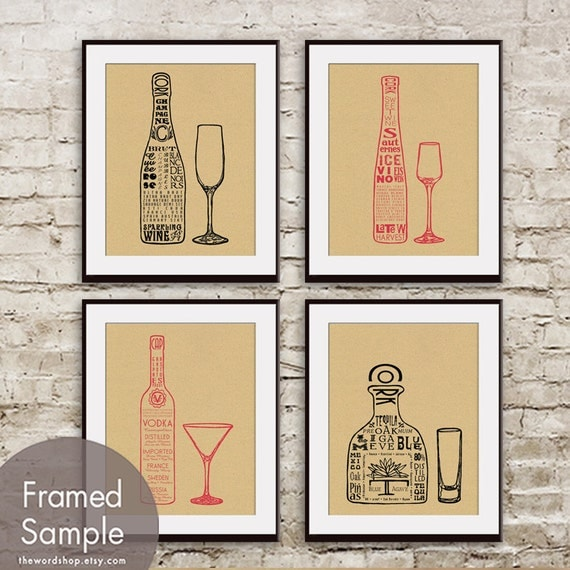 Wine & Alcohol Art via Etsy