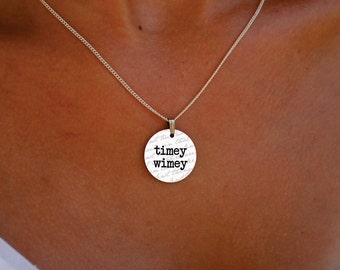 timey wimey Dr. Who charm necklace