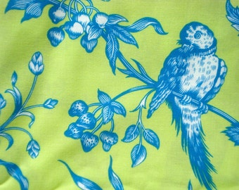 SALE : Girlfriends Nuala blue lime Jennifer Paganelli  Free Spirit fabric FQ or more