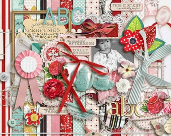 Practically Perfect - Digital Scrapbooking kit INSTANT DOWNLOAD
