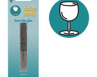 Metal Design Stamp-Wine Glass-Brand New-Steel Stamp for Metalwork- 6 mm