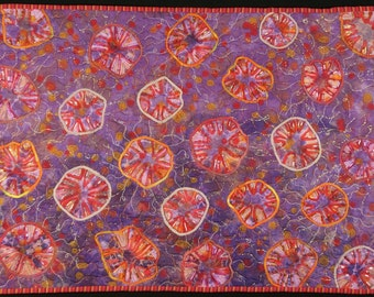 Handmade Art Quilt - Jellyfish