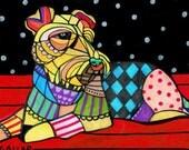 60% Off- Welsh Terrier pop art dog Art  Art Print Poster by Heather Galler  Heather Galler (HG892)