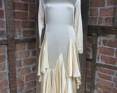 1920s Flapper Wedding Gown. Layer of silky dreams. Great Gabsty 883