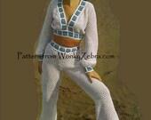 Crochet Granny Square Pants Suit 279 Vintage PDF from WonkyZebra