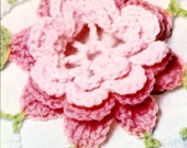 Rose Crochet Bedspread Vintage PATTERN PDF and Bonus Flower Tutorial 299 from WonkyZebra