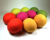 Wool Dryer Balls - Citrus Crush - Set of 10 Eco Friendly - Can be Scented or Unscented