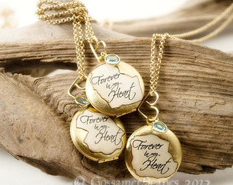 child loss locket memorial TRIO friend family sympathy Forever in my Heart
