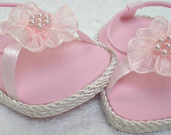 PINK BEACHY SANDALS 18 inch doll clothes