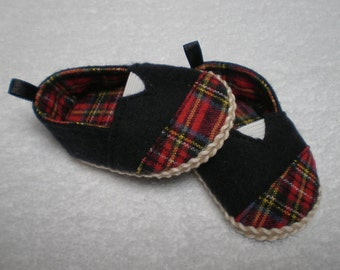BLACK & RED PLAID Espadrilles Toms 18 inch doll clothes