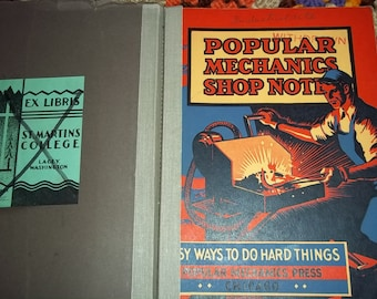 vintage Popular Mechanics Shop Notes, Popular Ways to do things the Easy Way, ex lib