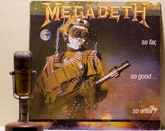 "ON SALE Megadeth Vinyl Record LP Album 1980s American Thrash Metal Lp Dave Mustaine ""So Far, So Good...So What""(Rare Columbia House Edition"