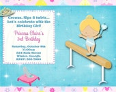 Cinderella or Snow White Gymnastics Invitation Inspired -Digital File