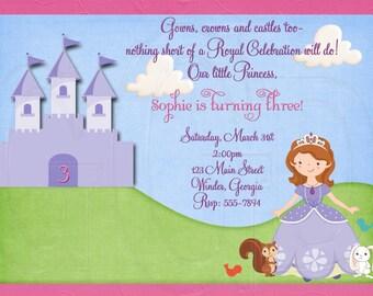 Invitación de Princesa Sofía inspirado - archivo Digital