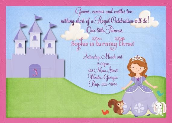 Princess Birthday Invite as adorable invitations design
