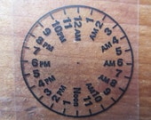 Clock transparency ephemera (8) clocks, clear, time lot