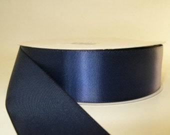 50 yard spool Navy Blue Ribbon double faced satin ribbon 1.5 inches, Wedding, Special Occasion, Crafts, DIY bridal