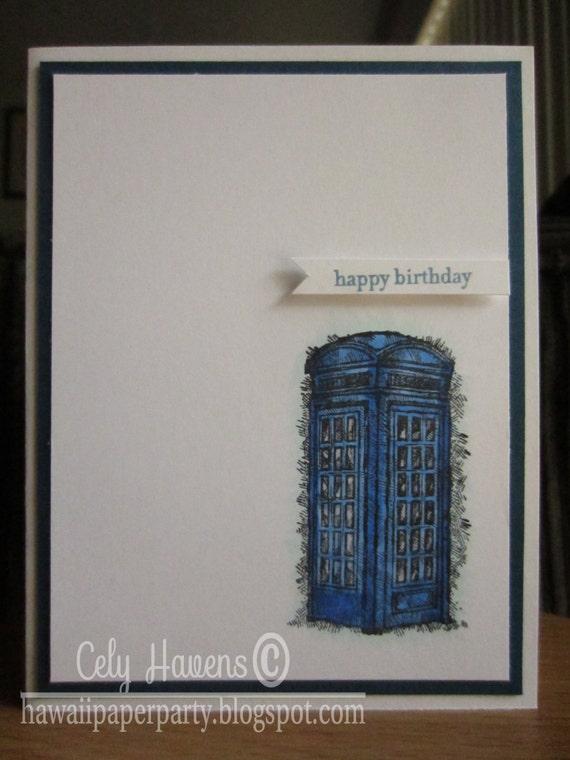 tardis birthday card dr  who dr  whovians handmade happy