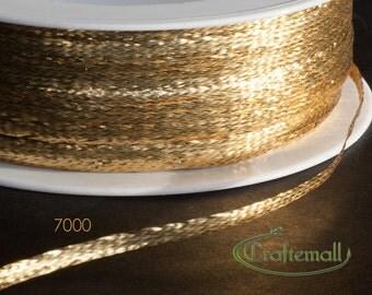 Soutache trim - thin 3mm soutache braid - gold (7000XFFE) - 5 meters