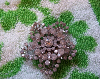 beautiful and stunning rhinestone brooch