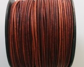 3 Yards of Naturally Dyed 1.5mm Leather Cord in Turkey Red