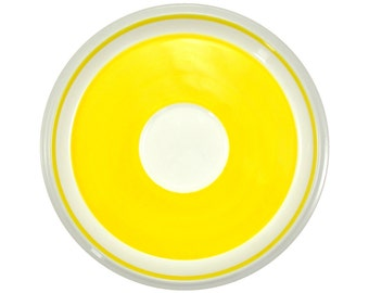 Yellow Mikasa Saucers, Set of 4